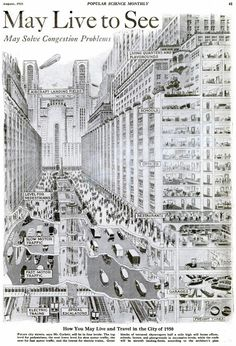 How you may live and travel in the city of 1950.
