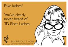 Fake Lashes? You have clearly never heard of 3D Fiber Lashes from Younique. http://www.lawbreakinglashes.com