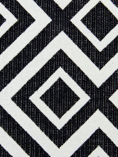 Geometric Upholstery Fabric Black White Fabric by PopDecorFabrics