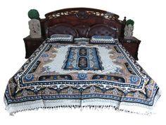 Cotton Bedding Bedspreads 3 pc set Handloom Bed by MOGULGALLERY