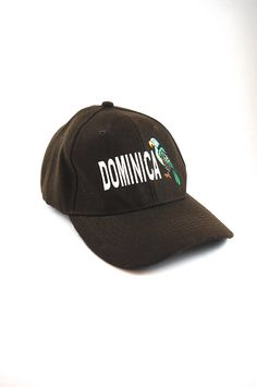 22d425c117135 Dominica Cap with Adjustable Strapback    Embroidered Parakeet    Dad Hat  Baseball Cap    Island vacation