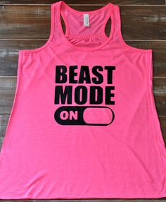 Beast Mode On Tank Top - Workout Tank Top - Crossfit Shirt - Funny