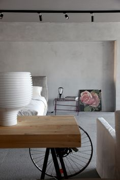 Stylish writing table in the bedroom