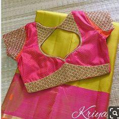 Elegant Designer Fancy Sari Blouse Designs - The Handmade Crafts Blouse Back Neck Designs, Kids Blouse Designs, Simple Blouse Designs, Stylish Blouse Design, Fancy Blouse Designs, Indian Blouse Designs, Sari Design, Air Jordan 3, Nike Zoom