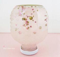 Diamonds and Glitter in an Apple Juice Bottle Snow Globe!
