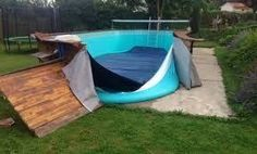 habillage piscine hors sol intex - Google Search Rectangle Above Ground Pool, Pool Decks, In Ground Pools, Outdoor Decor, Decking, Images, Home Decor, Google, Swimming Pools