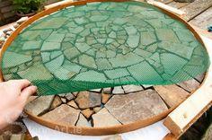 Stone Art Blog: Making a mosaic paver