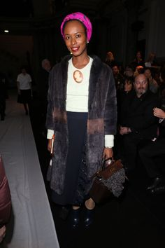 Shala Monroque in Rochas Front Row