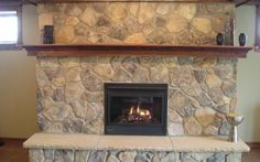 Concrete Stain Brick Fireplace Makeover My Not So Cute