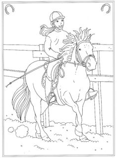 Kleurplaat Paarden Kids N Fun Coloring Coloring Pages Horse
