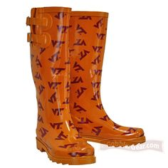 VA Tech Rain Boots-they're calling my name!!!
