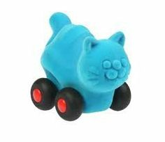 Rubbabu Cat Aniwheelie 4 inches by Rubbabu. $5.95. Using safe materials of the best quality, certified by EN 71 Parts 1, 2 and 3, ASTM 963F 16 CFR.... Strong educational value for infants and toddlers (ages 0-6) develop sensory, motor, congnitive skills. These hand made natural rubber foam toys are made without cutting down trees. Rubbabu's hand made natural foam toys in simple shapes and bright colors are loved by kids and parents alike.  Soft and safe for even...
