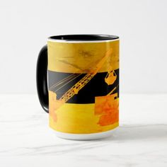 COLORFUL VINTAGE CRANE OPERATOR CRAWLER CRANE MUG - personalize gift idea special custom diy or cyo