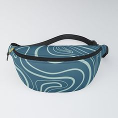 Simple hand drawn lines on dark blue Fanny Pack by diana_ioana Chapstick Holder, Everyday Look, Fanny Pack, Diana, Dark Blue, How To Draw Hands, Rest, Packing, Comfy