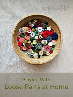 Playing with Loose Parts at Home: an oversight