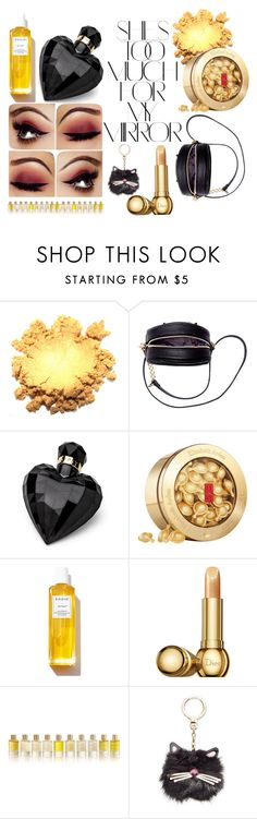 """""""Too much gold"""" by brooklynzooo ❤ liked on Polyvore featuring beauty, Rika, Betsey Johnson, Lipsy, Elizabeth Arden, Rodin, Christian Dior, Aromatherapy Associates and Kate Spade"""