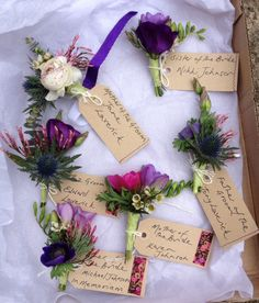 Corsages ready to go by Siobain Drury @HarumScarum