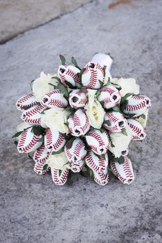 Baseball Rose Bouquet!