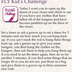 FLY Kid's Challenge Fly Lady Cleaning, Flylady, Bullet Journal Ideas Pages, Planner Ideas, Homemaking, Hospitality, Routine, Challenge, Management