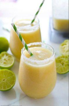 Tropical Pineapple Margarita Slushies | Food Recipes