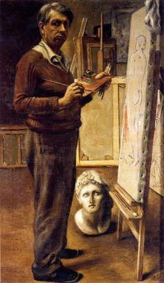 De Chirico, Autoritratto nello studio di Parigi (1935)