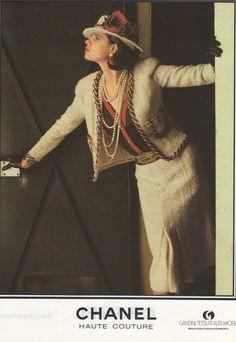 Lagerfeld Chanel 1983 Arthur Elgort Haute Couture Kampagne