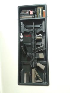 Tactical Walls are a great option for discreet and secure storage of your firearms and accessories. Tactical Walls install directly in the wall where they can easily be secured behind picture frames, mirrors, or in the back of a closet, and are optimized for installation with standard pine 2×4 construction which is framed 16 inches on center. They currently come in two sizes, the 1410, meant for handguns and other small accessories, and the 1440 (seen above), meant for rifles and shotguns…
