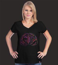 Estampa 'Lado do cerebro' no Camiseteria.com. Autoria de Elisangela http://cami.st/d/67490