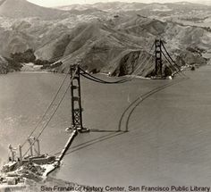 Golden Gate Bridge under construction....