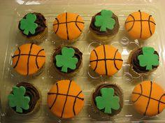 Boston celtics cupcakes