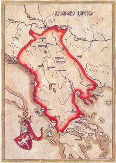 Serbian Empire (Raschka / Serbia proper; vassal lands: Bosnia, Dalmatia, Bulgaria, Thessaly)  1346-1371