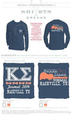 Kappa Sigma | Nashville Formal | Tshirt Ideas | Socials | shirtsforgreeks.com