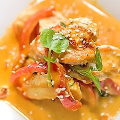 Kurczak curry Snack Recipes, Snacks, Thai Red Curry, Lunch, Chicken, Meat, Dinner, Cooking, Breakfast