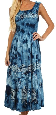 d0dbbb0cfb01 Sakkas 1429 Jamilah Gypsy Boho Peasant Batik Dress - Cranberry - One Size  at Amazon Women s Clothing store