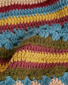 Image 6 of the product MULTICOLOURED CROCHET BLANKET