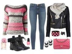 Outfit rocker, encuentra más estilos aquí... http://www.1001consejos.com/outfits-para-el-invierno/