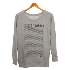 Der SICK of WINTER Pullover für Frauen ist locker und sportlich geschnitten. Sehr gemütlich und 100% aus fair gehandelter Bio-Baumwolle!