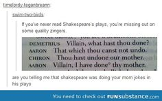 Shakespeare - making your mom jokes before it was cool.