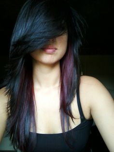 peek a boo highlights.  love love love, but I want them in dark red burgundy