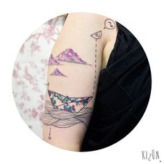 Pin for Later: 35 Unique Travel Tattoos to Fuel Your Eternal Wanderlust Origami Boat