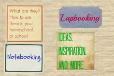 lapbooking and notebooking ideas to use in your homeschool or classroom