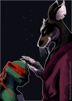 One of my favorite scenes from the first TMNT movie back in the was when Splinter had a quiet talk with Raphael about his anger issues, so I wanted . TMNT Second Son Ninja Turtles Art, Teenage Mutant Ninja Turtles, Gi Joe, Usagi Yojimbo, Tmnt 2012, Cartoon Shows, Spirit Animal, Pretty Pictures, Master Splinter