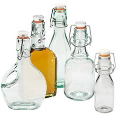 The Container Store > Small Capacity Hermetic Glass Bottles