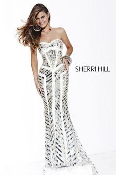 Mac Duggal pageant gown 42586P! This white pageant dress features ...
