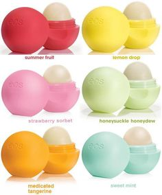 I have the yellow, pink, and bule so far (= I'm addictied to EOS <3