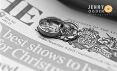 The wedding rings on the wedding day newspaper