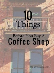Our original idea has always been to start our coffee shop from square one with our own concept and vision… but there wasthe one time we almost bought a coffee shop.I had no idea where to start in thevariables to consider with thisdecision, but for the short time period this option was available and running …