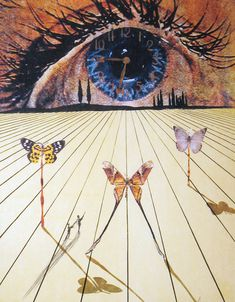 View this item and discover similar for sale at - Artist: Dali, Salvador Title: The Eye of Surrealist Time Series: Memories of Surrealism Date: 1971 Medium: Lithograph with etching on Arches Unframed Dimensions: Magritte, Illustration, Art Moderne, Art Plastique, Surreal Art, Famous Artists, Oeuvre D'art, Art Inspo, Amazing Art