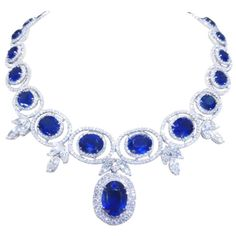 http://rubies.work/0515-sapphire-ring/ Stunning Sapphire and Diamond Necklace