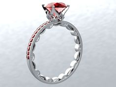 Ruby+Round+or+Princess+Cut+Pigeon+Blood+by+PristineCustomRings,+$1,290.00